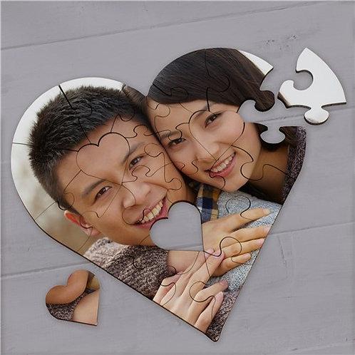 Custom Heart Photo Puzzle