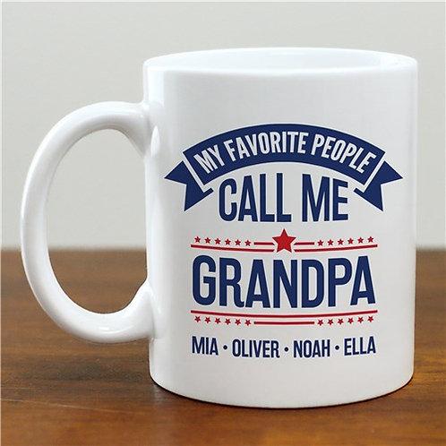 Personalized My Favorite People Call Me Grandpa Mug