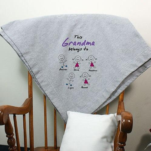 Personalized Belongs To Fleece Blanket