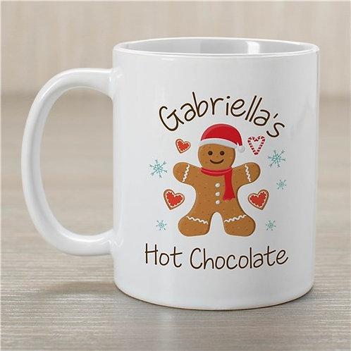 Personalized Gingerbread Hot Chocolate Mug