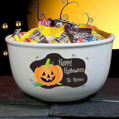 Happy Halloween Personalized Ceramic Bowl