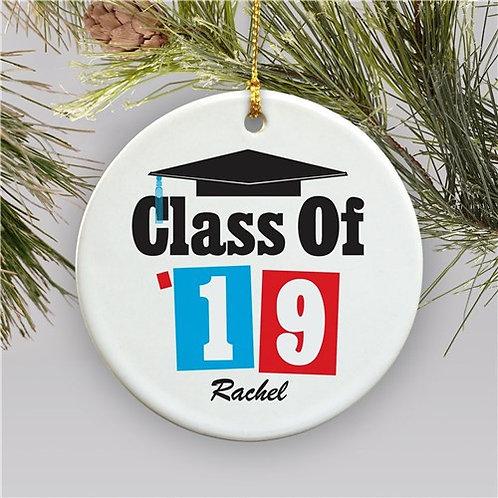 Personalized Ceramic Christmas Ornament for Graduation