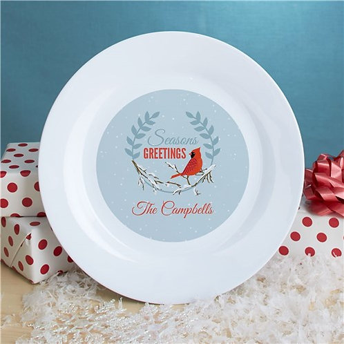 Personalized Seasons Greetings Plate