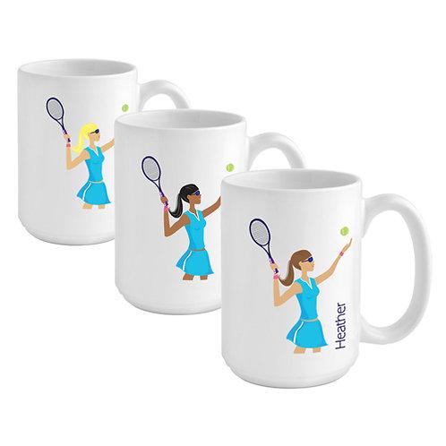 Personalized Go Girl-TENNIS Coffee Mug