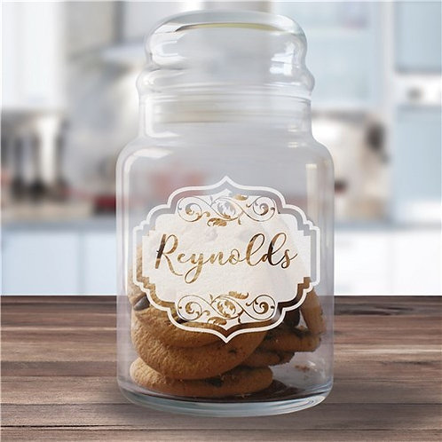 Engraved Vintage Family Glass Jar