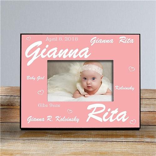 New Baby Girl Printed Frame