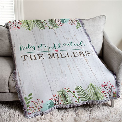 Personalized Baby It's Cold Outside Throw