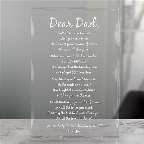 Engraved Poem Keepsake Block
