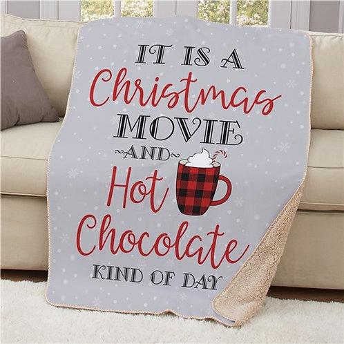 Christmas Movie & Hot Chocolate Blanket 50x60