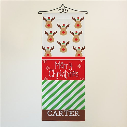 Christmas Reindeer Door Banner