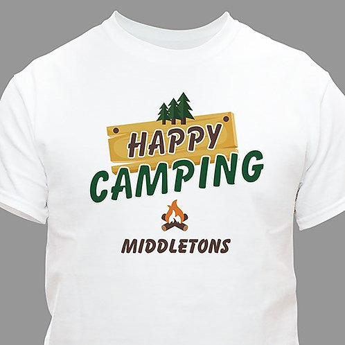 Personalized Happy Camping T-Shirt