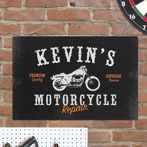 Motorcycle Metal Sign