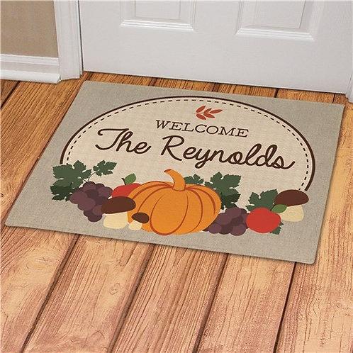 Personalized Autumn Doormat