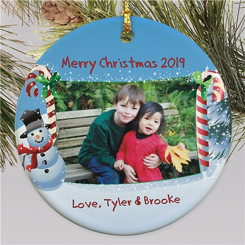 Ceramic Christmas Photo Ornament