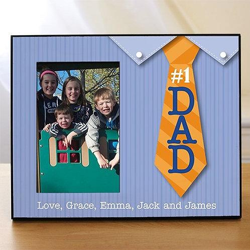 #1 Dad Printed Frame