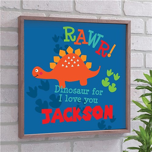 Personalized Rawr Dinosaur Wall Decor