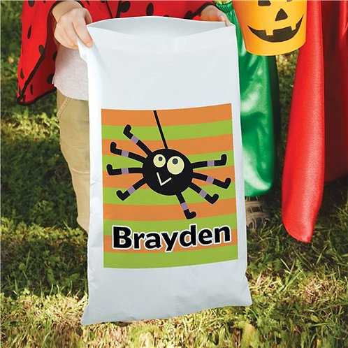Halloween Boy Spider Candy Sack