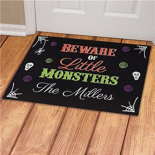 Personalized Beware of Little Monsters Doormat