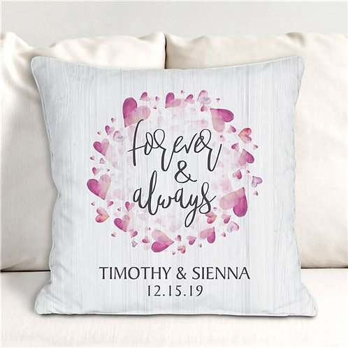 Personalized Forever And Always Throw Pillow