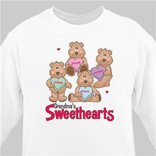 Personalized Candy Sweetheart Bears Valentine Sweatshirt
