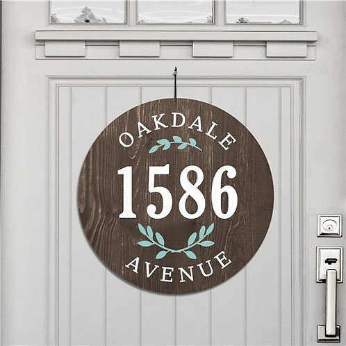 Personalized Floral Address House Sign