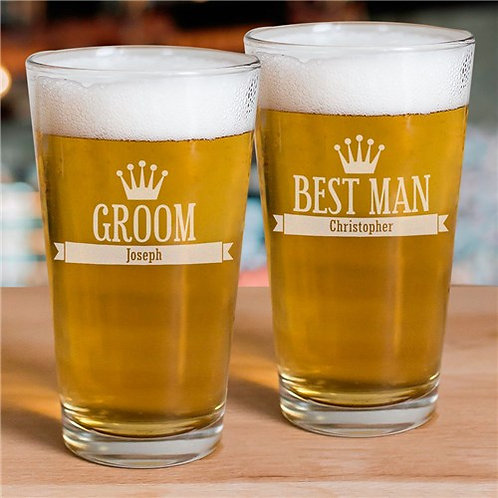 Engraved Groomsmen Glass
