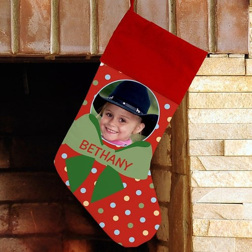Polka Dot Picture Stocking