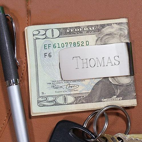 Elongated Silver money clip