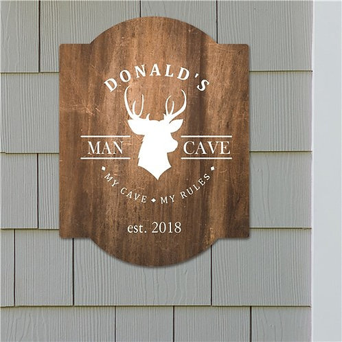 Personalized Deer Head Wall Sign