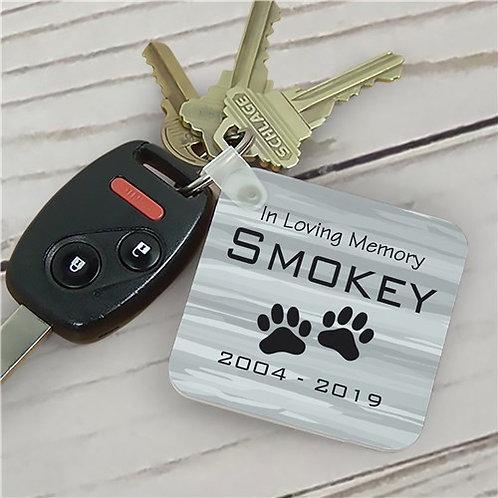 Personalized Pet Memorial Key Chain