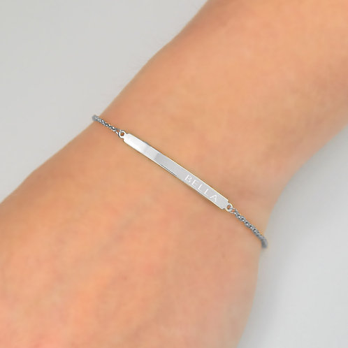 Personalized Sterling Silver Name Bar Bracelet