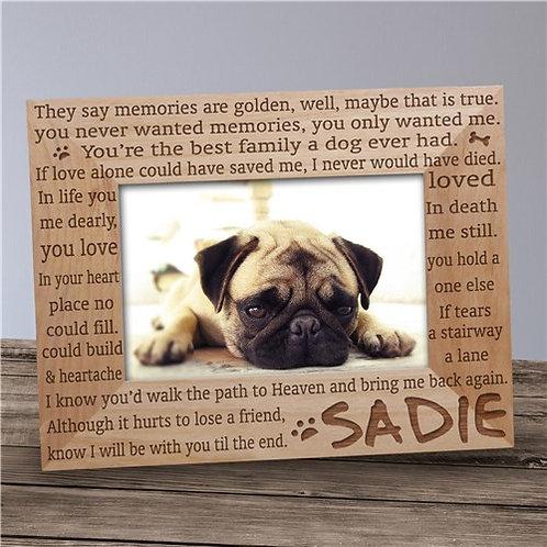 Engraved Til' the End Pet Memorial Frame