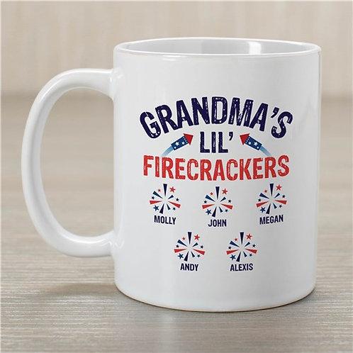 Personalized Grandma's Lil Firecrackers Mug
