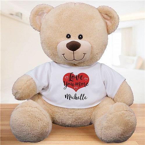 Personalized Love You More Sherman Bear