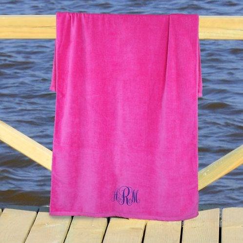 Monogram Beach Towel