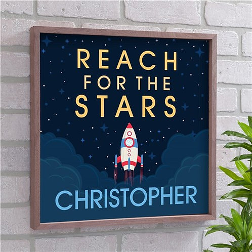 Personalized Reach For The Stars Wall Decor