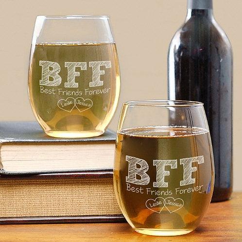 BFF Wine Glass Set