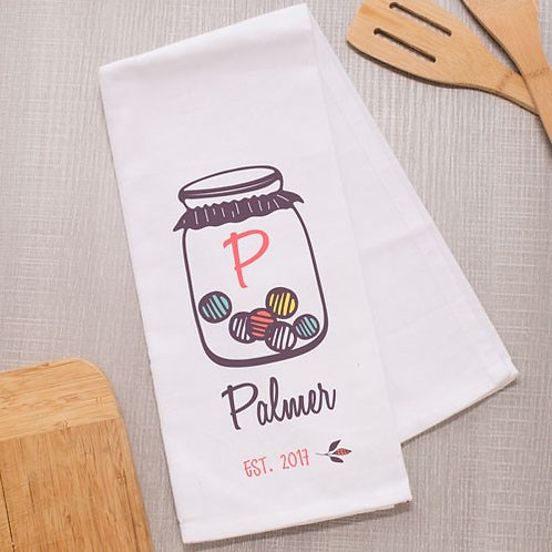 Personalized Family Jar Dish Towel