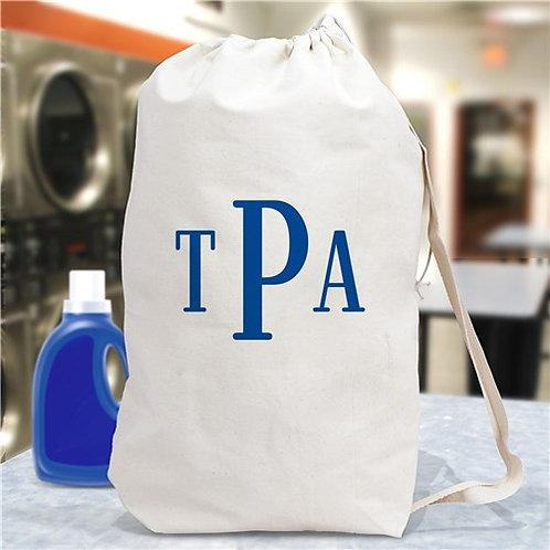 Block Monogrammed Laundry Bag
