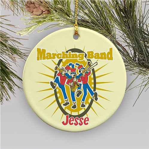 Personalized Ceramic Marching Band Christmas Ornament