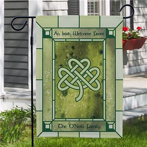 Personalized Irish Celtic Knot Garden Flag