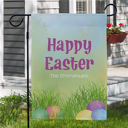 Happy Easter Egg Hunt Personalized Garden Flag
