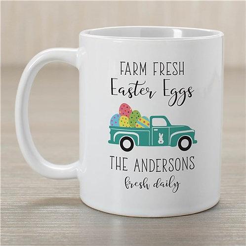Personalized Farm Fresh Easter Eggs Mug