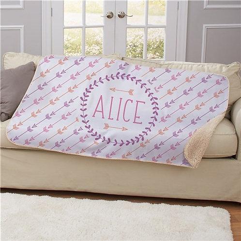 Personalized Arrows Sherpa Blanket
