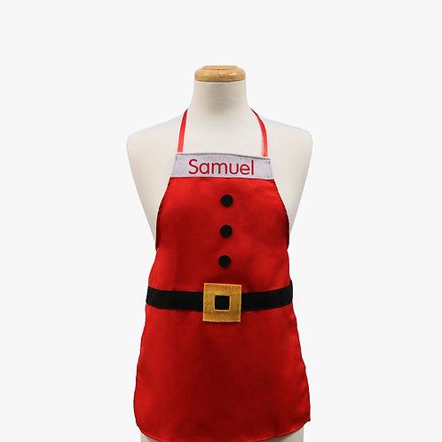 Santa Suit Personalized Kids Apron