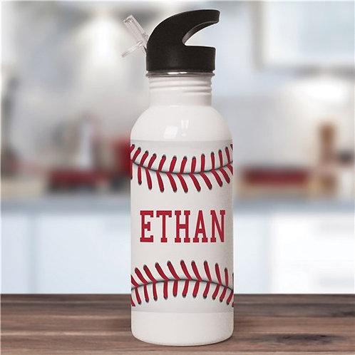 Personalized Baseball Water Bottle