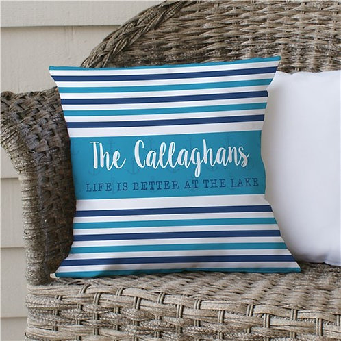 Personalized Life Is Better At The Lake Throw Pillow