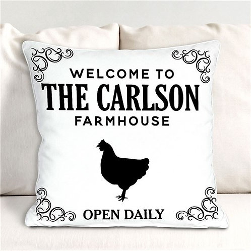 Personalized Welcome To The Farmhouse Pillow