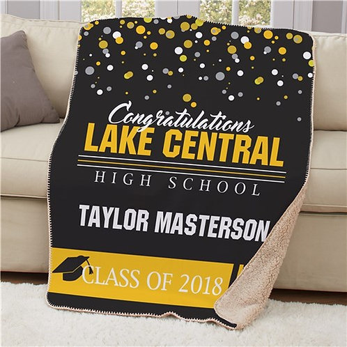 Personalized Congratulations Class Sherpa Throw