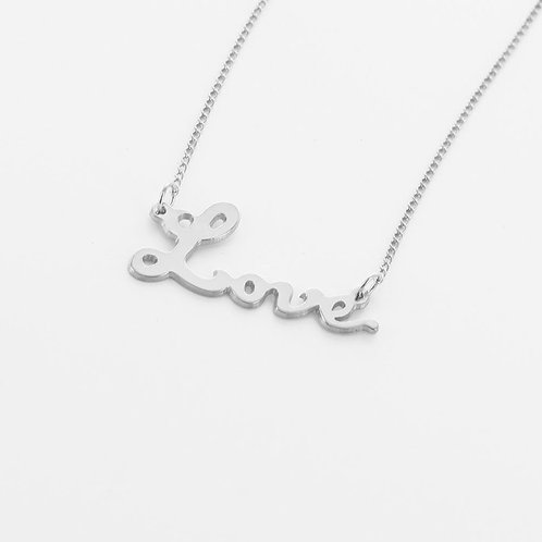 Sterling Silver Love Necklace
